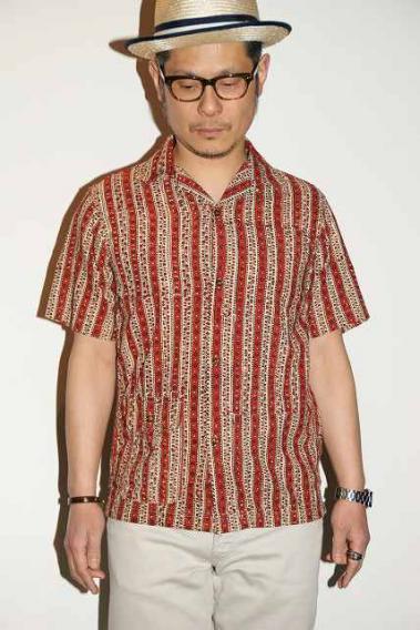 代引手数料・送料無料 WORKERS (ワーカーズ) オープンカラーシャツ