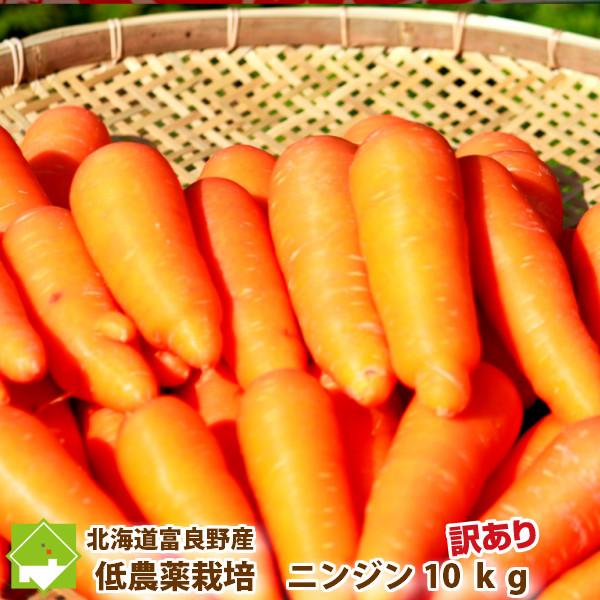 ニンジンジュース用 有機肥料を使用したあま~い人参 にんじん ご予約品 初回限定 10kg 北海道 訳あり 送料無料 10kg 人参 富良野産