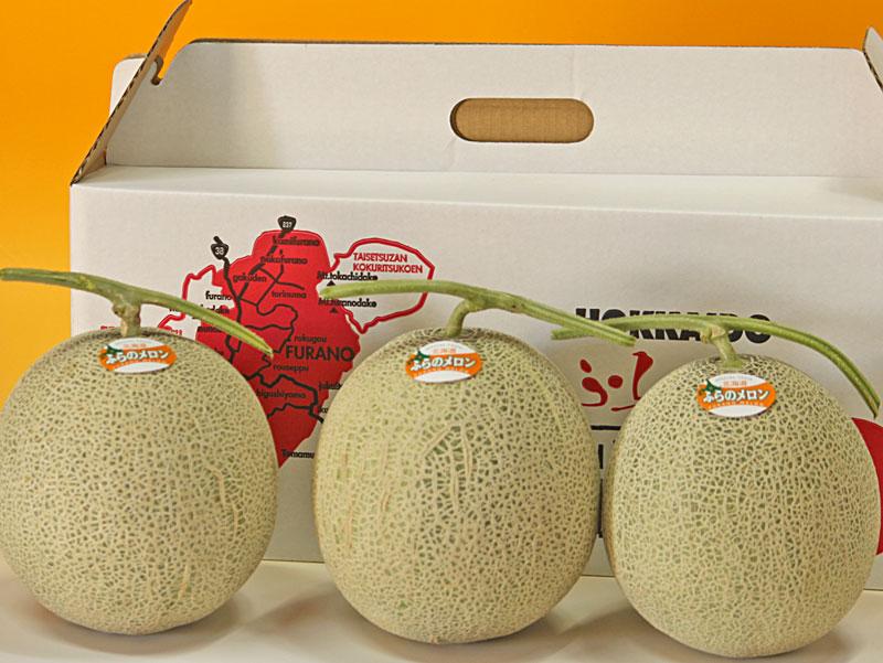 北海道富良野産最高品質秀品赤肉 melon
