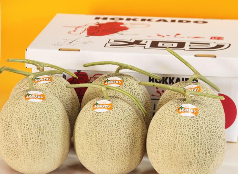 メロン 北海道富良野産 赤肉メロン 秀品 2Lサイズ(1.5kg以上) 6玉入り【送料無料】【お中元ギフト】【10P03Dec16】