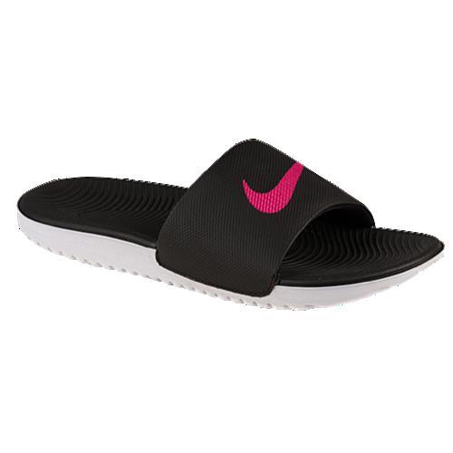 (取寄)NIKE ナイキ レディース サンダル カワ スライド Nike Women's Kawa Slide Black Vivid Pink 【コンビニ受取対応商品】