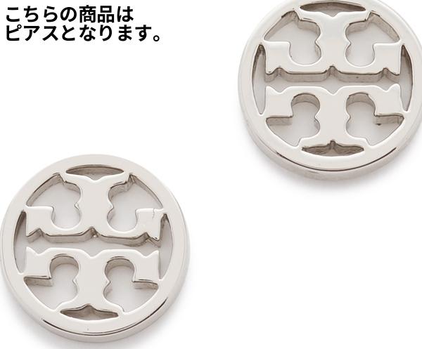 (取寄)トリーバーチ ピアス シルバー ロゴ サークル スタッズ Tory Burch Logo Circle Stud Earrings【コンビニ受取対応商品】