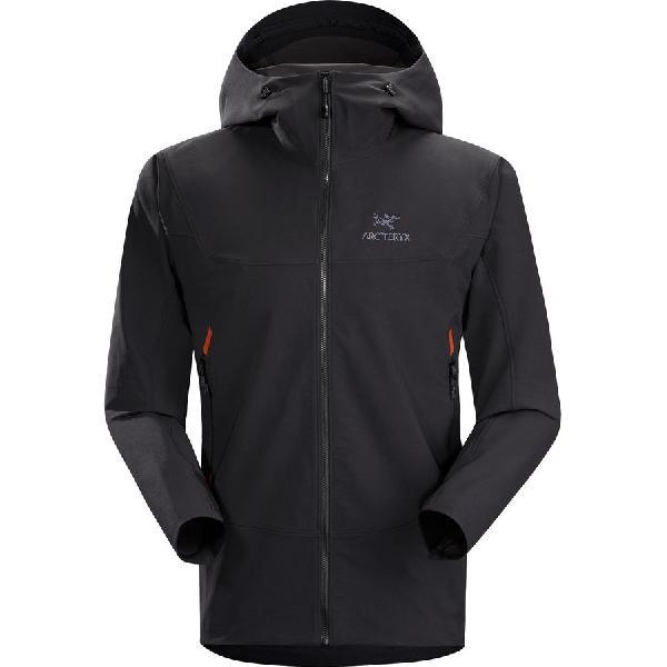 (取寄)アークテリクス メンズ ガマー LT フーデッド ソフトシェル ジャケット Arc'teryx Men's Gamma LT Hooded Softshell Jacket Black