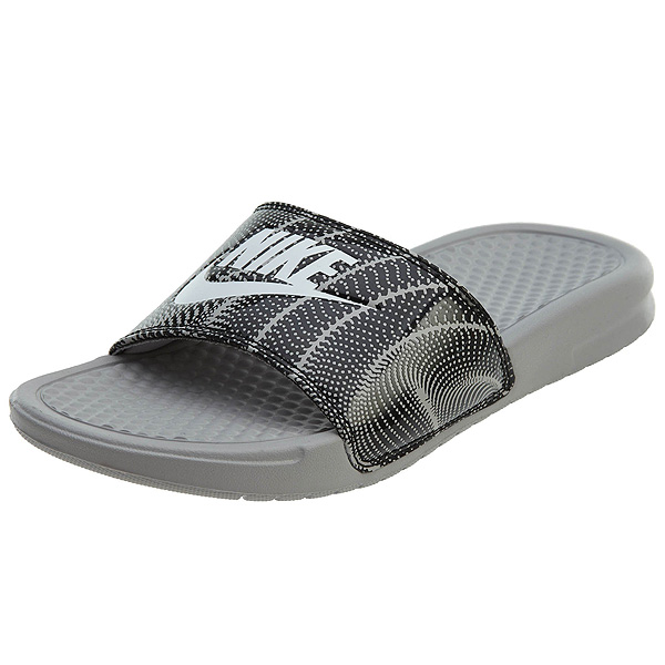 NIKE ナイキ サンダル ベナッシ 柄デザイン スライド ホワイト ブラック Nike Benassi JDI Slide Atmpshere Grey White Black