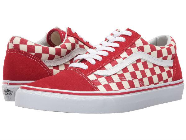 (取寄)Vans(バンズ) スニーカー オールド スクール ユニセックス メンズ レディース Vans Unisex Old Skool (Primary Check) Racing Red/White