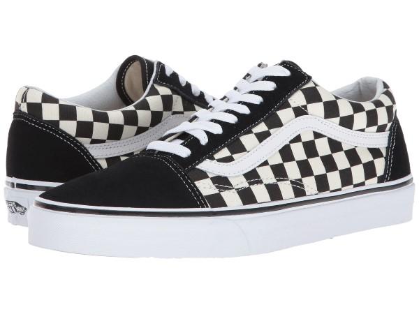 (取寄)Vans(バンズ) スニーカー オールド スクール ユニセックス メンズ レディース Vans Unisex Old Skool (Primary Check) Black/White