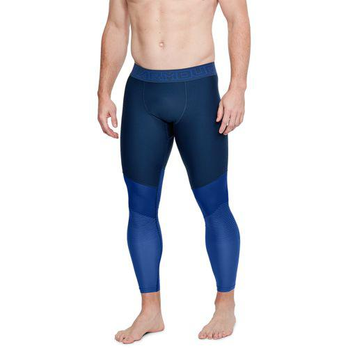 (取寄)アンダーアーマー メンズ スレッドボーン フットボール タイツ Under Armour Men's Threadborne Vanish Football Tights Acadamy Jupiter Blue Metallic Iron
