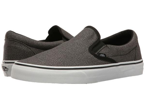 (取寄)Vans(バンズ) スニーカー メンズ クラシック スリップ-オン Vans Men's Classic Slip-On (Suiting) Black/True White