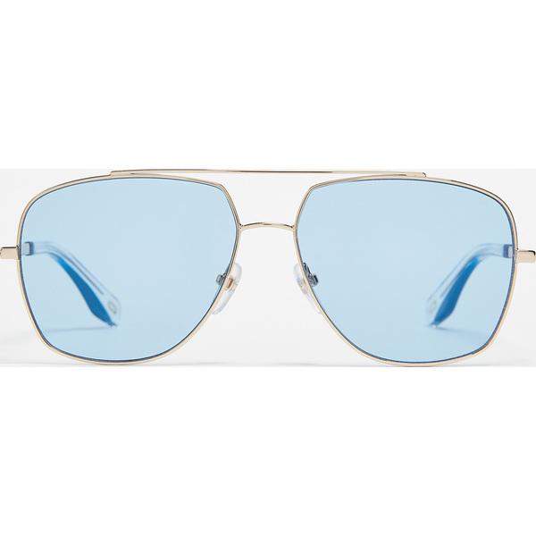 (取寄)Marc Jacobs Aviator Sunglasses マークジェイコブス アビエイター サングラス GoldBlueBlue