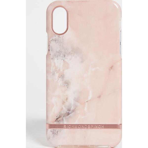 (取寄)Richmond & Finch Pink Marble IPhone X Case リッチモンド & フィンチ ピンク マーブル アイフォン X ケース PinkRoseGold