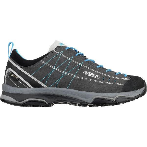 (取寄)アゾロ レディース ニュークレオン GV ハイキングシューズ Asolo Women Nucleon GV Hiking Shoe Graphite/Silver/Cyan Blue
