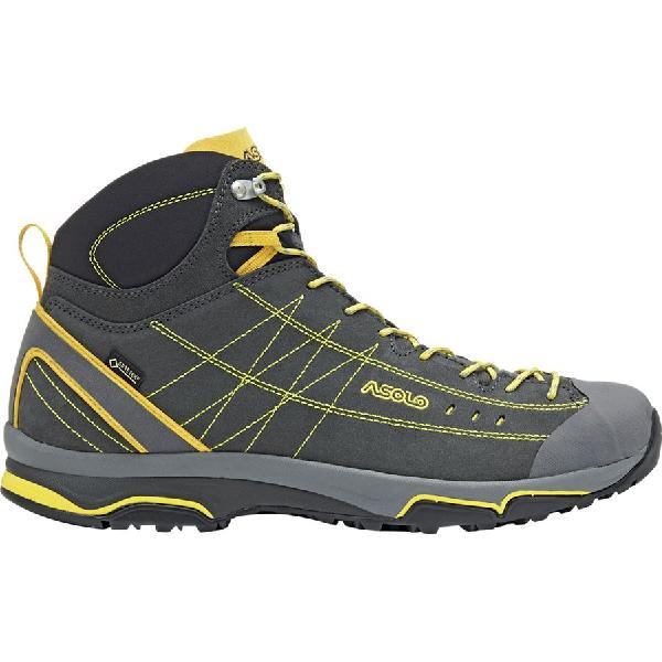 (取寄)アゾロ メンズ ニュークレオン ミッド GV ブーツ Asolo Men's Nucleon Mid GV Boot Graphite/Yellow