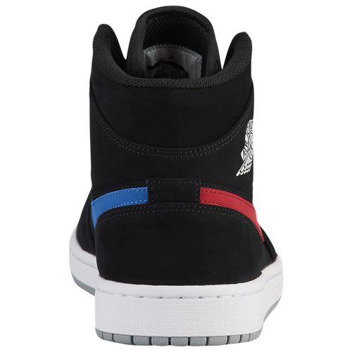best service 4b0ec 80c65 (order) Jordan men Air Jordan AJ 1 mid sneakers Jordan Men's AJ 1 Mid Black  Varsity Red Varsity Royal White