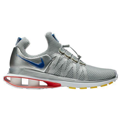 (取寄)ナイキ メンズ スニーカー ショックス グラビティ Nike Men's Shox Gravity Metallic Silver Gym Blue White Siren Red