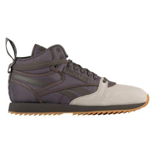 (取寄)リーボック メンズ クラシック レザー ミッド リップル Reebok Men's Classic Leather Mid Ripple Urban Grey Sand Stone