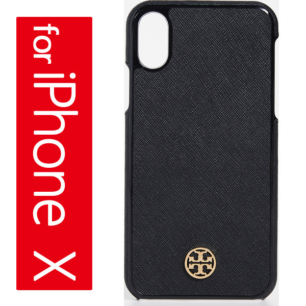quality design f9119 74061 Tolly Birch iPhone X case black Robinson hardware shell Tory Burch Robinson  Hardshell iPhone X Case Black