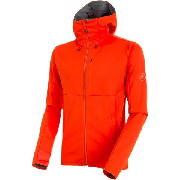 (取寄)マムート メンズ アルティメット V SO フーデッド ジャケット Mammut Men's Ultimate V SO Hooded Jacket Dark Orange/Titanium Melange