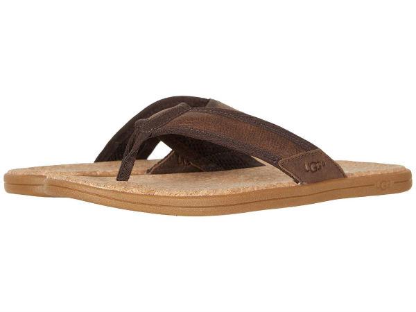 (取寄)アグ メンズ シーサイド フリップ UGG Men's Seaside Flip Chestnut Leather