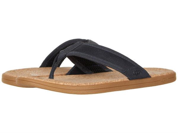 (取寄)アグ メンズ シーサイド フリップ UGG Men's Seaside Flip Navy Leather