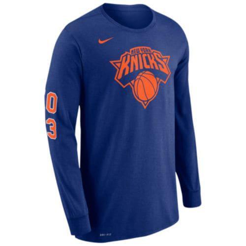 0b250698d (order) Nike men NBA Legacy Longus Reeve T-shirt New York Knicks Nike Men s  NBA Legacy L S T-Shirt New York Knicks Rush Blue