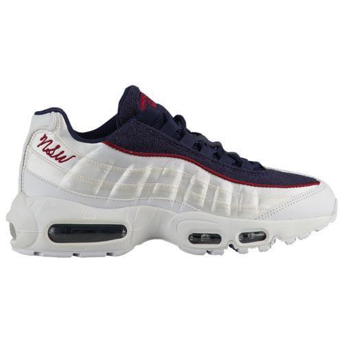(取寄)ナイキ レディース エア マックス 95 Nike Women's Air Max 95 White White Blackened Blue Red Crush