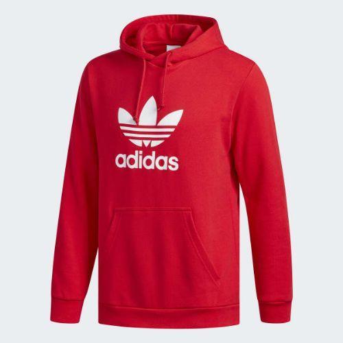 (取寄)アディダス オリジナルス メンズ トレフォイル パーカー adidas originals Men's Trefoil Hoodie Collegiate Red