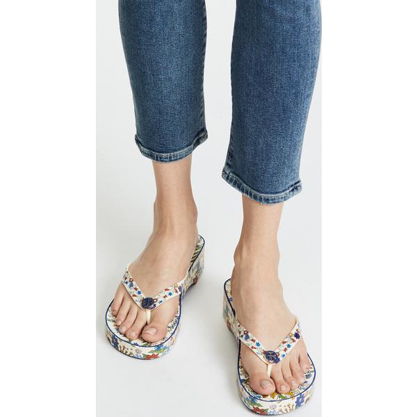 22c37656837d75 Tory Burch Women s Cutout Wedge Flip Flops Tolly Birch Lady s sandals  cutout wedge flip-flops beach sandal MeadowSweet