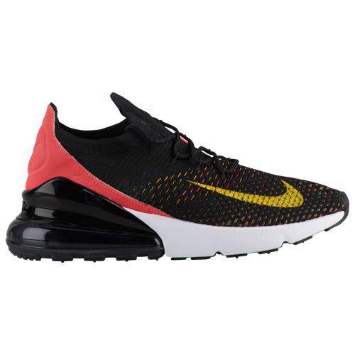 (取寄)ナイキ レディース エア マックス 270 フライニット Nike Women's Air Max 270 Flyknit Black Yellow Strike Bright Crimson