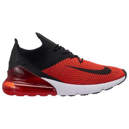 (取寄)ナイキ メンズ エア マックス 270 フライニット Nike Men's Air Max 270 Flyknit Chili Red Black Challenge Red White
