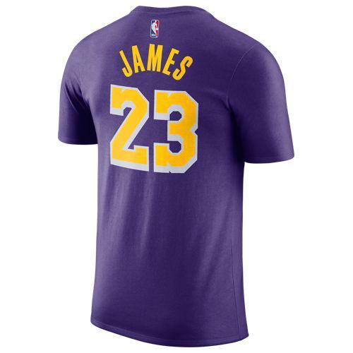 (取寄)ナイキ メンズ NBA プレーヤー ネーム & ナンバー Tシャツ ロサンゼルス レイカーズ レブロン ジェームズ Nike Men's NBA Player Name & Number T-Shirt ロサンゼルス レイカーズ Lebron James Court Purple