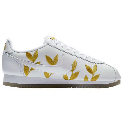 (取寄)ナイキ レディース クラシック コルテッツ Nike Women's Classic Cortez White White Metallic Gold