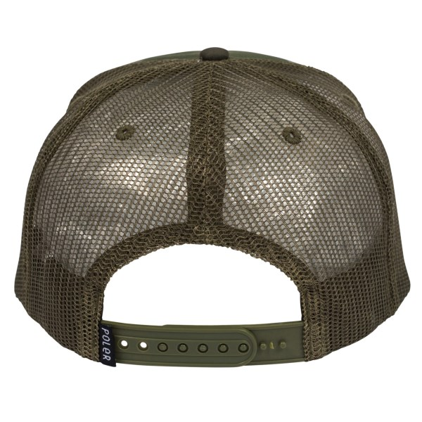 POLeR polar cap camo camping vibes brand mesh cap POLeR Camp Vibes Brand  Trucker Hat Green Furry Camo d12bfb40d05