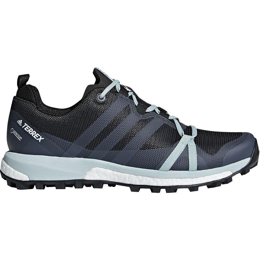 (取寄)アディダス レディース アウトドア テレックス アグラヴィック ブースト Gtx シューズ Adidas Women Outdoor Terrex Agravic Boost GTX Shoe Carbon/Grey Three/Ash Green