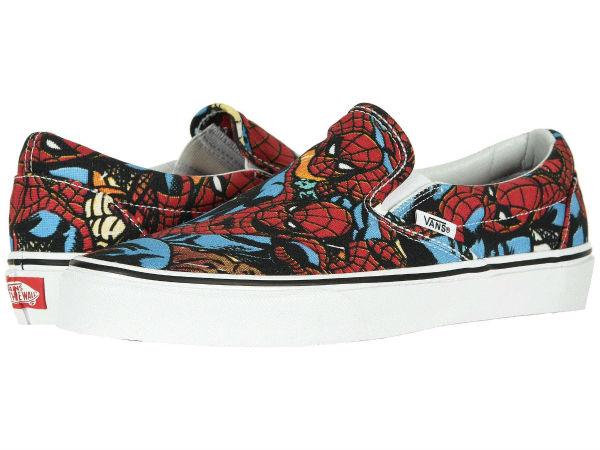 (取寄)Vans(バンズ) スニーカー クラシック スリップーオン X マーベル コラボ ユニセックス メンズ レディース Vans Unisex Classic Slip (Marvel) Spiderman/Black