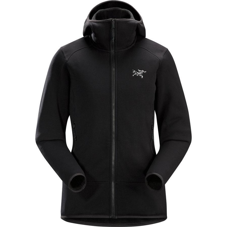 (取寄)アークテリクス レディース カイヤナイト フーデッド フリース ジャケット Arc'teryx Women Kyanite Hooded Fleece Jacket Black