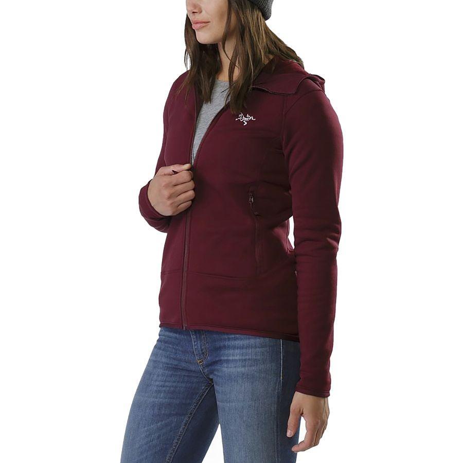 (取寄)アークテリクス レディース カイヤナイト フーデッド フリース ジャケット Arc'teryx Women Kyanite Hooded Fleece Jacket Crimson