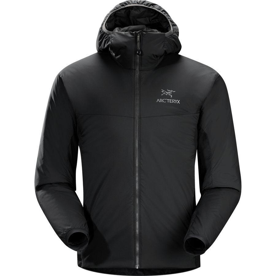 【エントリーでポイント10倍】(取寄)アークテリクス メンズ アトム LT フーデッド インサレーテッド ジャケット Arc'teryx Men's Atom LT Hooded Insulated Jacket Black