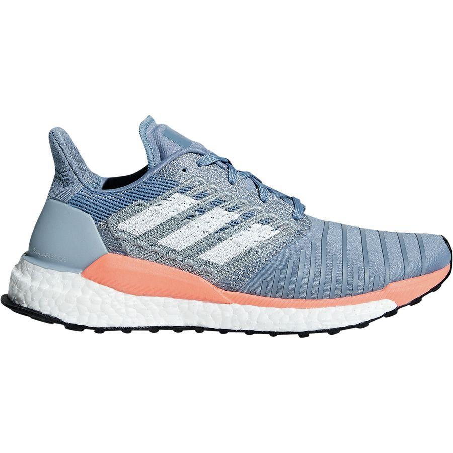 (取寄)アディダス レディース ソーラー ブースト ランニングシューズ Adidas Women Solar Boost Running Shoe Raw Grey S18/Ftwr White/Chalk Coral S18