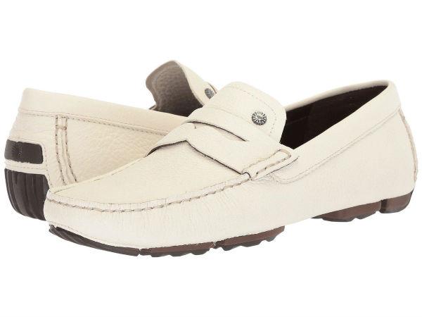 (取寄)アグ メンズ Bel-Airペニー スリップ UGG Men's Bel-Air Penny Slip White
