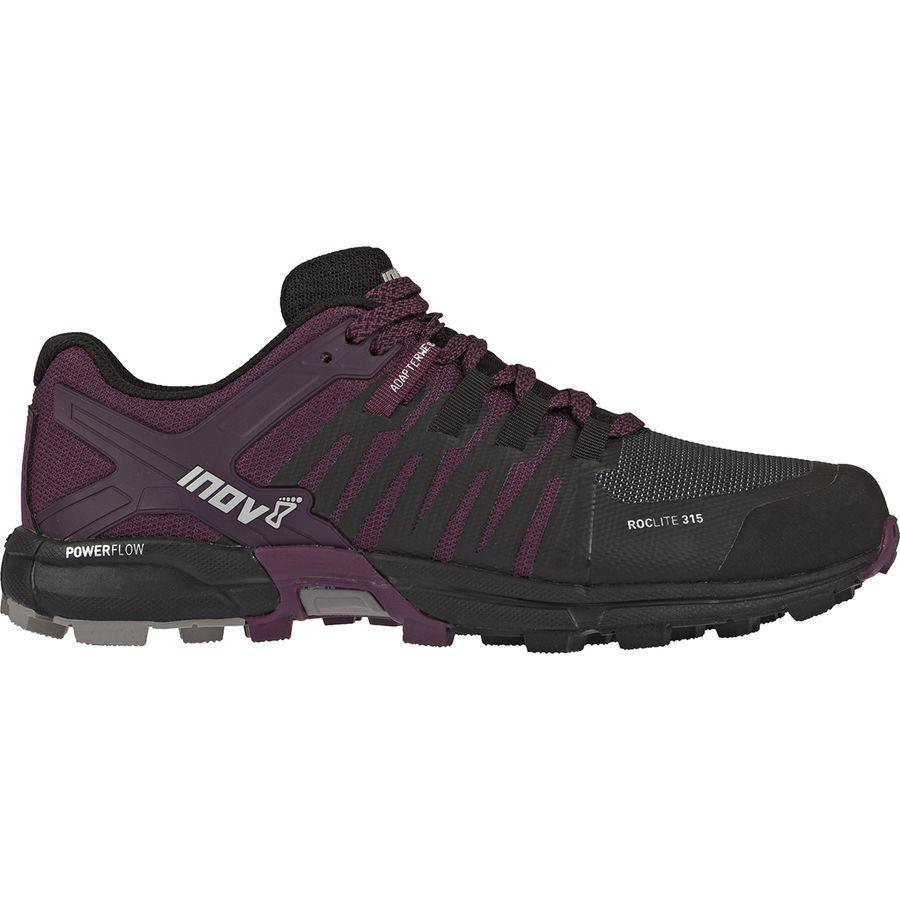 【クーポンで最大2000円OFF】(取寄)イノヴェイト レディース ロックライト 315トレイル ラン シューズ Inov 8 Women Roclite 315 Trail Run Shoe Black/Purple