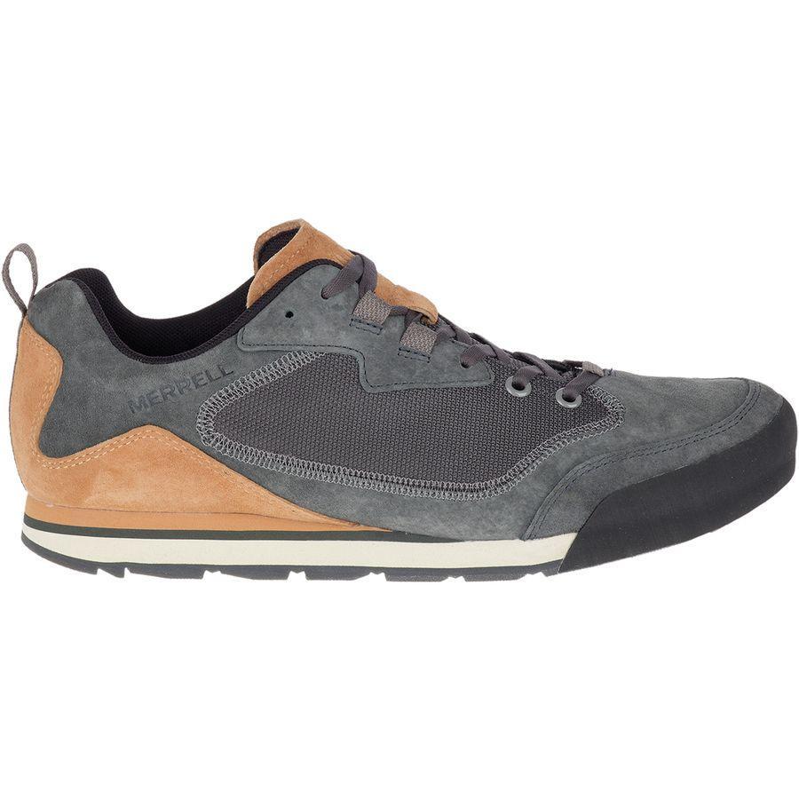 (取寄)メレル メンズ バーント ロック トラベル シューズ Merrell Men's Burnt Rock Travel Suede Shoe Granite