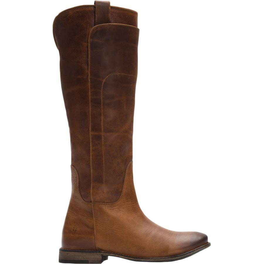 9466bb8303f (order) fried food Lady's page Thor riding boots Frye Women Paige Tall  Riding Boot Dark Brown Washed Antique Pull Up