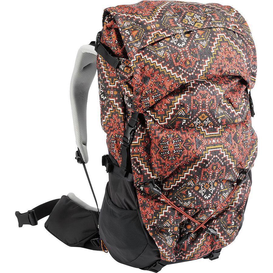 (取寄)ノースフェイス ドリフト 55L バックパック The North Face Men's Drift 55L Backpack Tandori Spice Red Reno Casino Print/Weathered Black