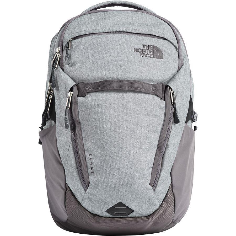 (取寄)ノースフェイス レディース サージ 31L バックパック The North Face Women Surge 31L Backpack High Rise Grey Light Heather/Rabbit Grey