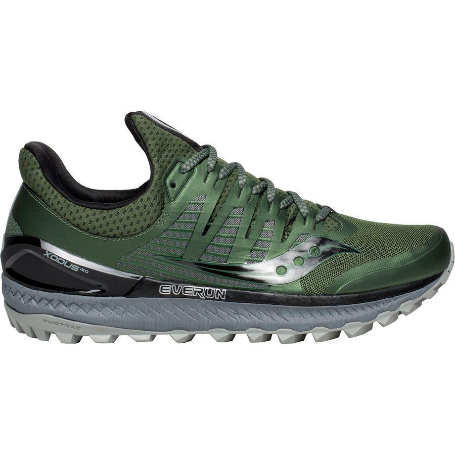 【クーポンで最大2000円OFF】(取寄)サッカニー メンズ エクソダス Iso 3トレイル ランニングシューズ Saucony Men's Xodus Iso 3 Trail Running Shoe Olive/Black