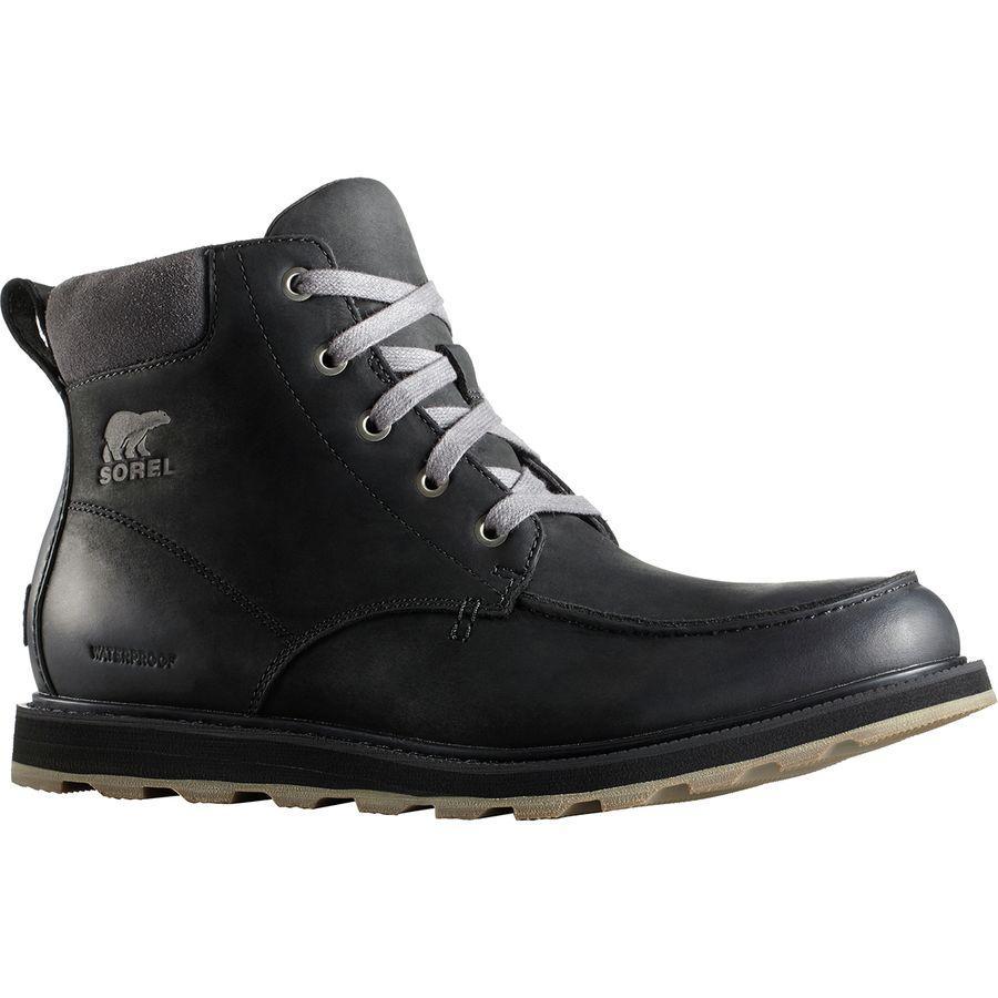(取寄)ソレル メンズ マドソン モック トー ブーツ Sorel Men's Madson Moc Toe Boot Black/Dark Grey
