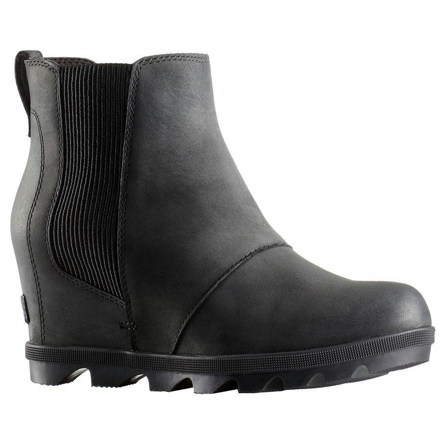(取寄)ソレル レディース ジョアン オブ アークティック ウェッジ 2 チェルシー ブーツ Sorel Women Joan of Arctic Wedge II Chelsea Boot Black