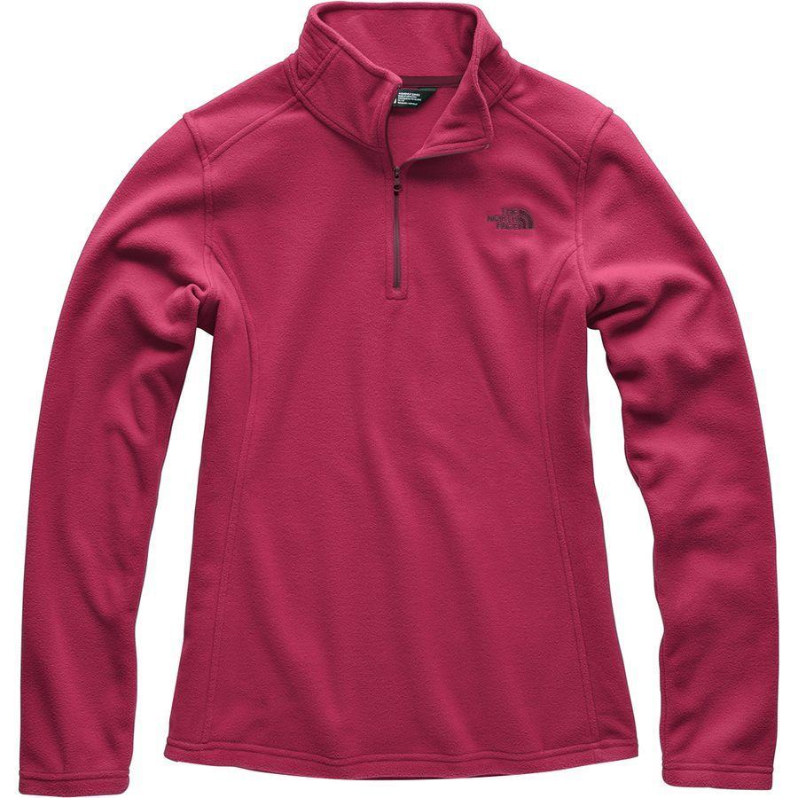 (取寄)ノースフェイス レディース グレイシャー 1/4-Zip フリース プルオーバー The North Face Women Glacier 1/4-Zip Fleece Pullover Rumba Red