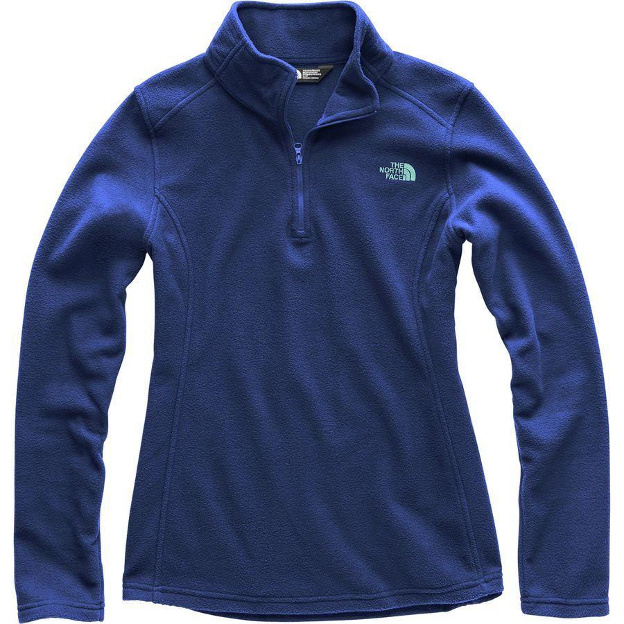 (取寄)ノースフェイス レディース グレイシャー 1/4-Zip フリース プルオーバー The North Face Women Glacier 1/4-Zip Fleece Pullover Sodalite Blue