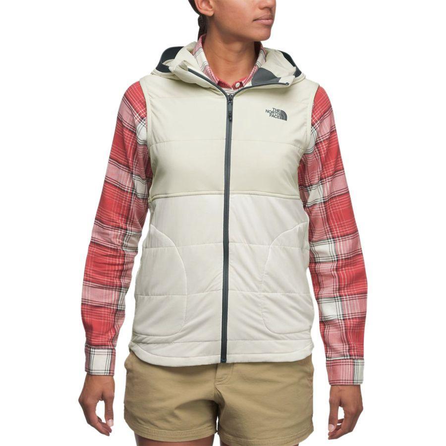 (取寄)ノースフェイス レディース マウンテン フーデッド ベスト トレーナー The North Face Women Mountain Hooded Vest Sweatshirt Vintage White/Peyote Beige